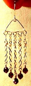 Step 21 to 5 Dangles Jewelry Wire Earrings Jewelry Making Project