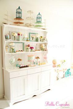 birthday parties, dream, dresser, birthday brunch, cabinet, cake stands, kitchen, cake display, birthday party treats