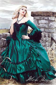 Gothic Victorian Steampunk Antoinette Fantasy Masquerade Gown