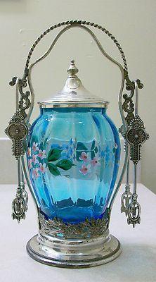 Beautiful Antique Victorian Pickle Castor | eBay