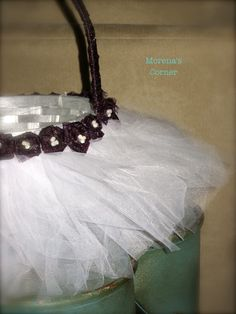 Tulle Easter (Flower Girl) Basket | Morena's Corner