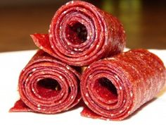 Strawberry fruit roll-ups...3 ingredients vs too many to count!