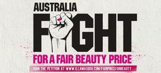 @Illamasqua Ltd are taking a stand against inflated cosmetic prices in Australia. Join them and I in this fight!
