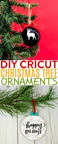 Deck the halls with DIY Cricut Christmas Tree Ornaments! There are so many ways to personalize your tree with homemade ornaments to suit your decor, theme, and interests. #christmas #diychristmas #holidays #diyholidayideas #diychristmasideas #diychristmasdecor #diychristmasgiftideas #christmascrafts #diygiftideas #christmasdiy #christmascrafts #diychristmasideas #teencrafts #teencraftideas