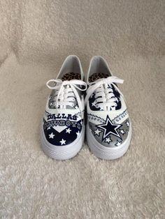 Custom Painted Dallas Cowboys Shoes