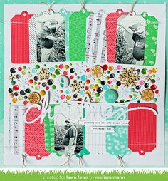 lawn trimmings scrapbook page by melissa for lawn fawn design team