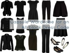 Wardrobe Oxygen: Ask Allie: All Black Capsule Wardrobe