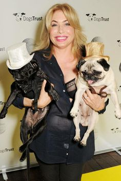 Brix Smith Start has her hands full with two pugs
