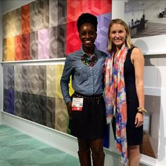 """""""Loved @Amy Milliken Carpet so much we went back today! #neocon14 #neoconography #SoMeFriends"""" - Kia Weatherspoon, Determined by Design"""