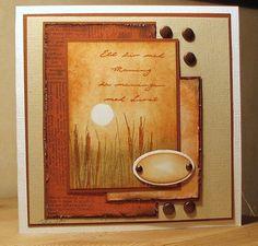 Rapport från ett skrivbord: Mer kort från helgens pyssel. card by Birgit.
