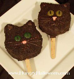 Halloween Black Cat Pops rice crispes