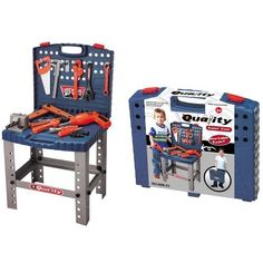 "Toy Tool Set Workbench Kids Workshop Toolbench by Talentstar. $29.50. Electronic drill, just like the real thing!. Require 2 AA batteries for the drill with batteries included. Assorted nuts and screw accessories ; Assembly required by adult. Portable or Stand-up Toolbox ; Set size in inches: 16""x29""x14"". 12 Realistic tools; Hanging accessories. Children Toolbox Play Set with Realistic Tools and Electronic Drill. First tool box is perfect for any child. Let their imaginati..."