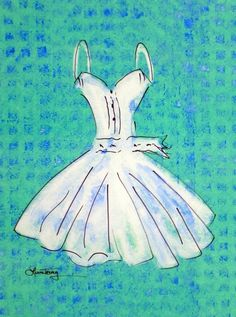 Art Print Dress in Watercolor by lauratrevey on Etsy, $18.00