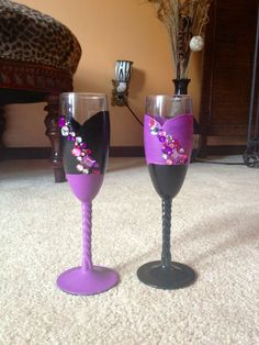Bedazzled wine glasses