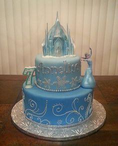 Frozen Cake with Elsa