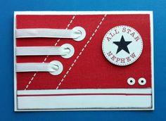 Converse sneaker card. Oh My Goodness - super cute!