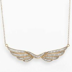 JLove by Jennifer Lopez 10k Gold 1/7-ct. T.W. Diamond Wings Necklace