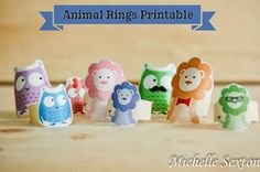 FREE printable paper animal rings for kids! ^^