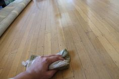 Homemade wood floor polish.