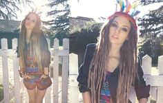 My hubby would hate it and friends would avoid me out in public, but I super <3 dreads. I really do.... <3