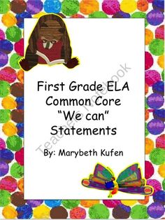 Eric Carle Inspired Common Core Objectives ELA
