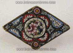 Antique Mosaic Pin - Italy