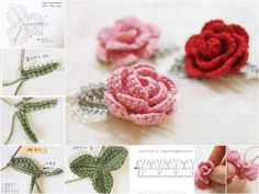 How to DIY Crochet Rose with Free Pattern