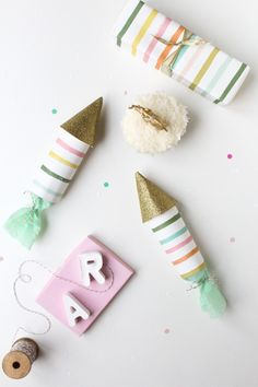 DIY // Glittered Party Poppers from Sugar and Cloth.