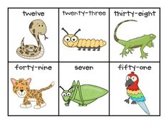 Here's a set of rainforest themed materials for matching numbers to number words.
