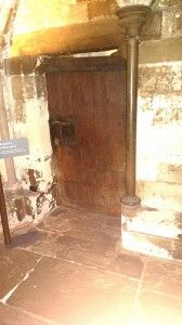 Britain's oldest door situated in Westminster Abbey, London circa 1050 built for Edward the Confessor