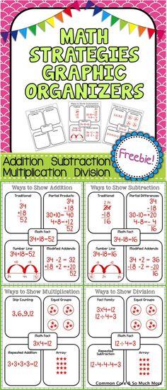 Math Graphic Organizers FREEBIE