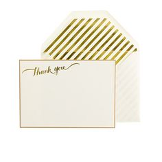 thank you letterpress note set