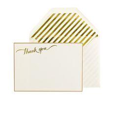 thank you letterpress note set