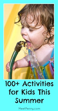 100 boredom busting activities and ideas to keep the kids busy this summer.