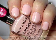 Nail polish of the week: Wet n Wild Sugar Coat. These are not my nails. I used two coats and it's a little streaky, but the color is great with my cool-toned skin.
