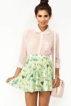 Sandy Skater Skirt in Clothes at Nasty Gal