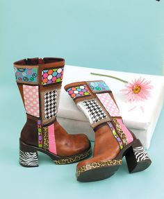 "Printed boots from the book ""Go Crazy with Duct Tape"""