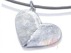 Sterling Silver Custom Do... Brent & Jess Fingerprint Wedding Rings Custom Handmade Fingerprint Jewelry
