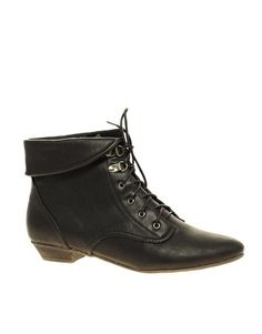 ASOS ARIBA Cuff Lace Up Ankle Boot - StyleSays