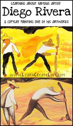 Diego Rivera Painting Lesson | LearnCreateLove.com