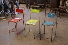 Teak ancien et deco on pinterest teak teak table and - Chaise industrielle ancienne ...
