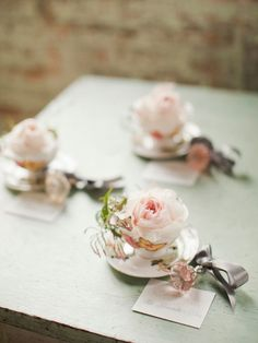 teacup escort cards~~ maybe good for a tea party