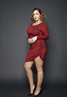 Jadasezer, jada sezer, curvy model, fashion, plus size, editorial, lingerie, fashion, role model, cute, shot by nicolas padron, casual sexy,  red dress, plus size fashion