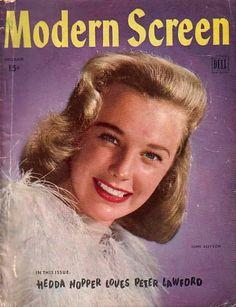December 1945.  June Allyson.