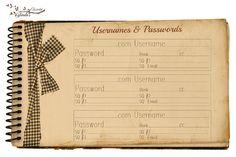 organ idea, usernam, glenda, cards, password card