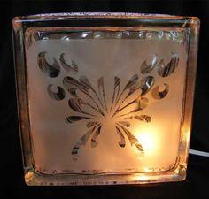 butter fly   glass block