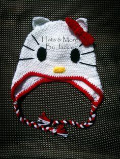 Hello kitty crocheted hat