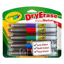 Crayola 8-Pack Dry-Erase Markers - Orange, Black, Green, Blue and Red