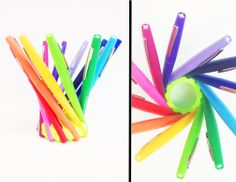 #3Dprinted plastic pen holder can be manipulated to fit any size writing utensil or crafting tool (such as paint brushes). Get organized and keep everything in place with recyclable plastics. #3DThursday