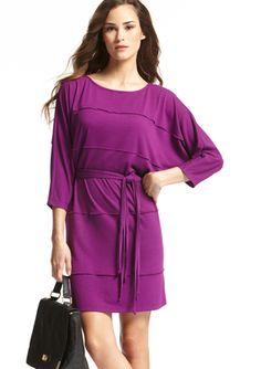 MSK Solid Tie Waist Dress